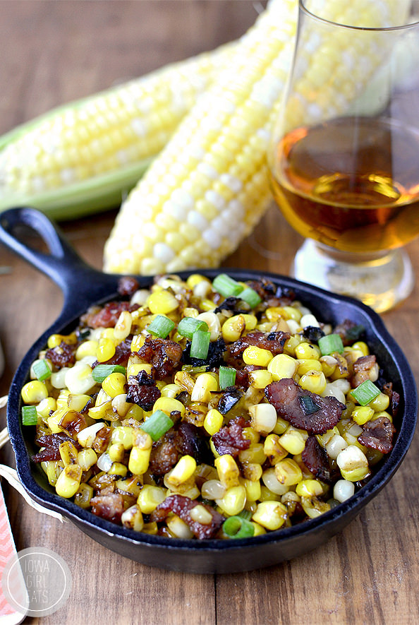 Sweet corn with maple bourbon brown butter and bacon for What sides go with barbecue chicken